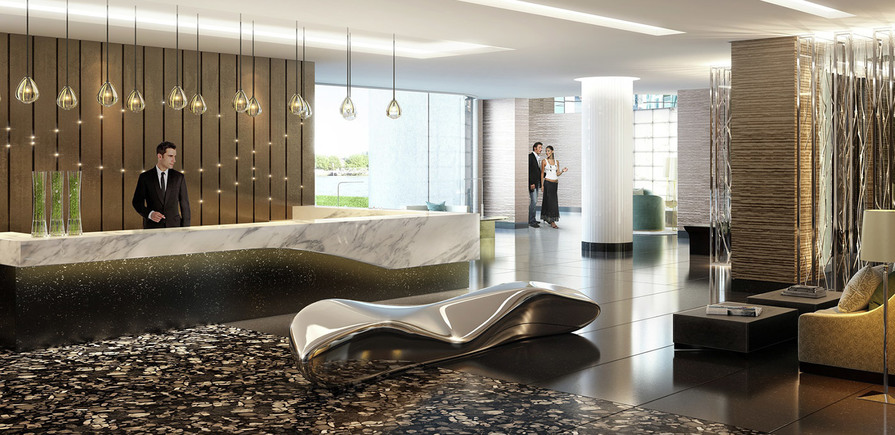 St James, The Corniche, Entrance Area, Lobby, Concierge, Communal, Interior