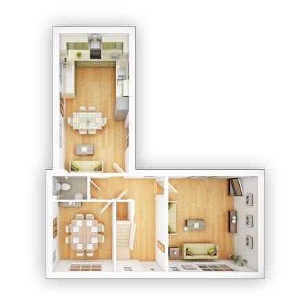 Taylor WImpey - Langdale - GF Floor plan