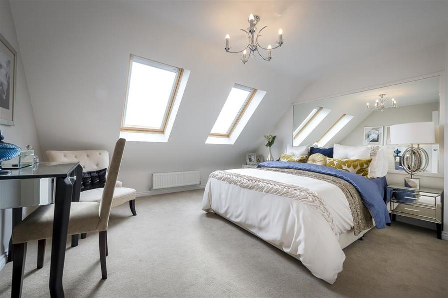 A typical Taylor Wimpey bedroom