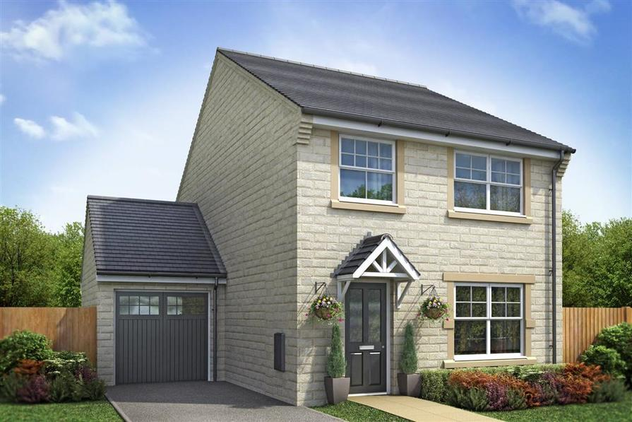 Artist Impression of The Lydford (detached) at Dale Moor View
