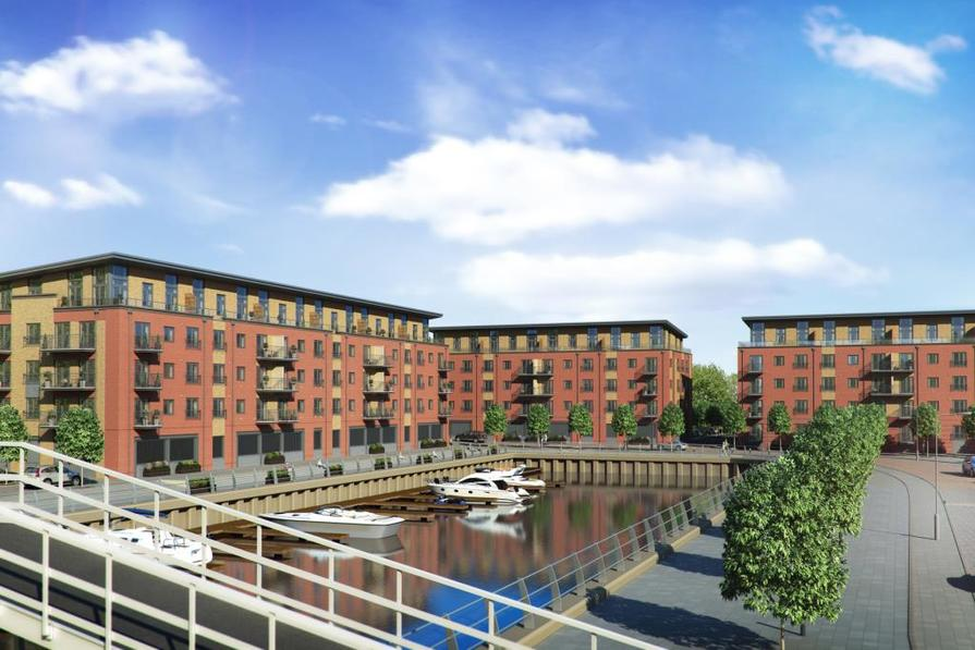 Artist's impression of Diglis Water Marina apartments