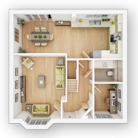 Detached House Plot 437 The Shelford Priced at 515000 with 4 bedrooms – Forge Wood Site Plan