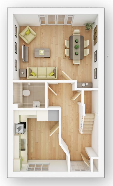 Semi Detached House Plot 434 The Flatford Variant for 385000 in – Forge Wood Site Plan