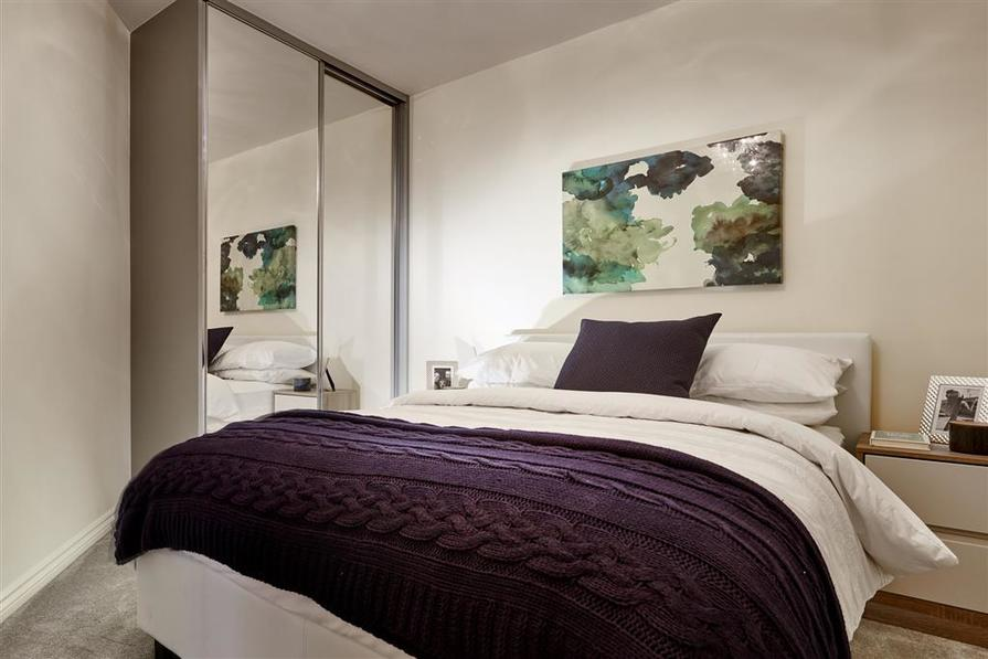Typical Taylor Wimpey apartment bedroom