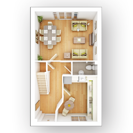 Taylor-Wimpey-Flatford-3-bedroom-house-ground-floor-3D-floorplan