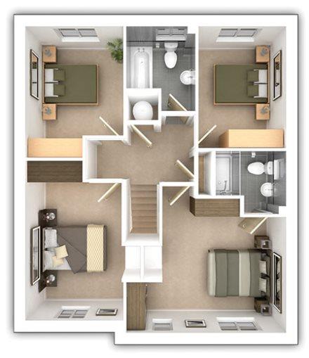 The Bradenham - 4 bedroom first floor plan
