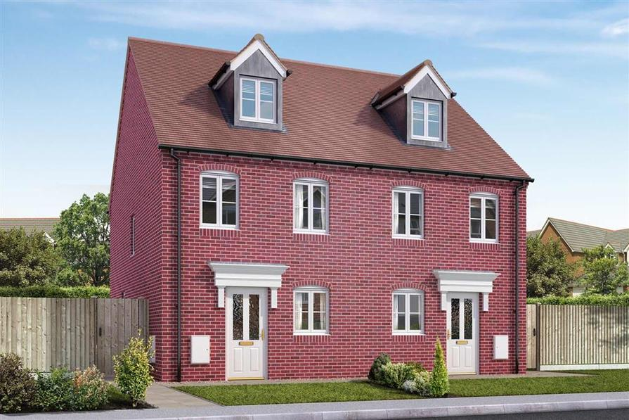 Artists impression of a typical Harvington home