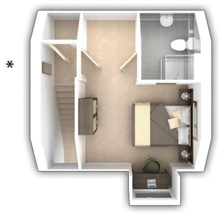 Taylor Wimpey - The Alderton -  3 bedroom second floor plan