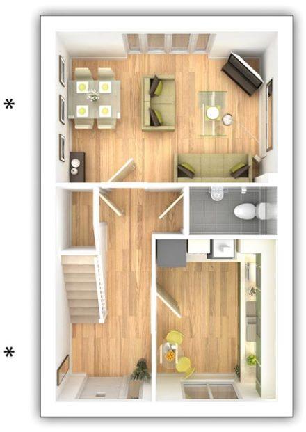 Taylor Wimpey - The Alderton -  3 bedroom ground floor plan