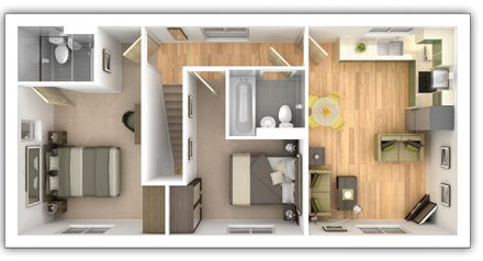Taylor Wimpey - The Edale -  2 bedroom first floor plan
