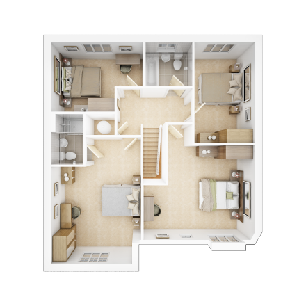 Taylor-Wimpey-Welford-4-bed-3D-FF-Floorplan