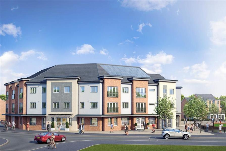 Artist impression of the Marina Apartments