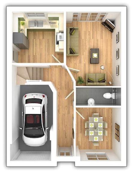 The Aldenham - 3 bedroom ground floor plan