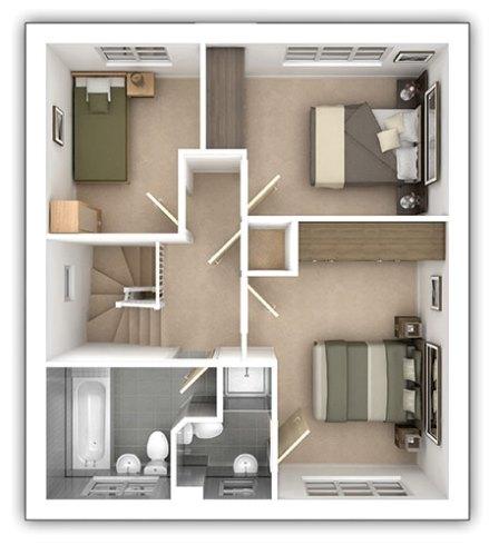 The Aldenham - 3 bedroom first floor plan