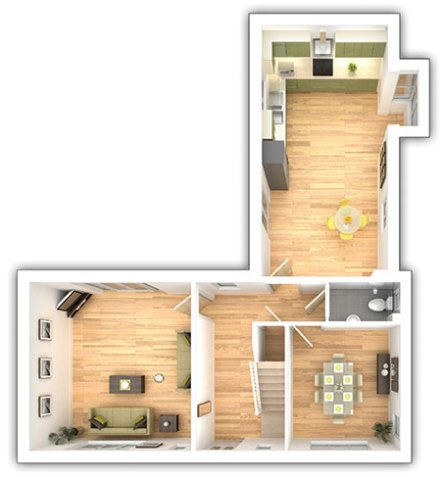 The Langdale - 4 bedroom ground floor plan