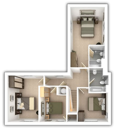 The Langdale - 4 bedroom first floor plan