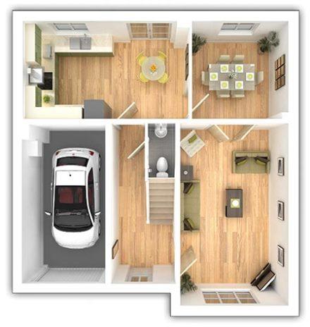 The Eynsham - 4 bedroom ground floor plan