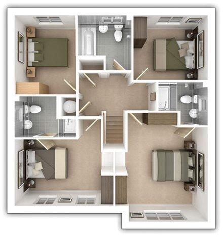 The Eynsham - 4 bedroom first floor plan