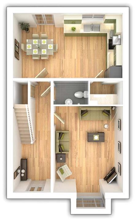 The Midford - 4 bedroom ground floor plan