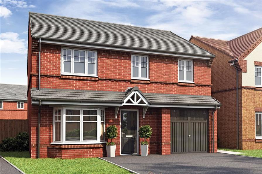 Artist impression of the Aldenham at Rothwells Farm Village East V1