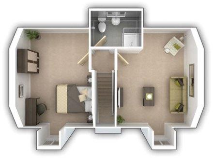 Second Floor Plan of The Wilton