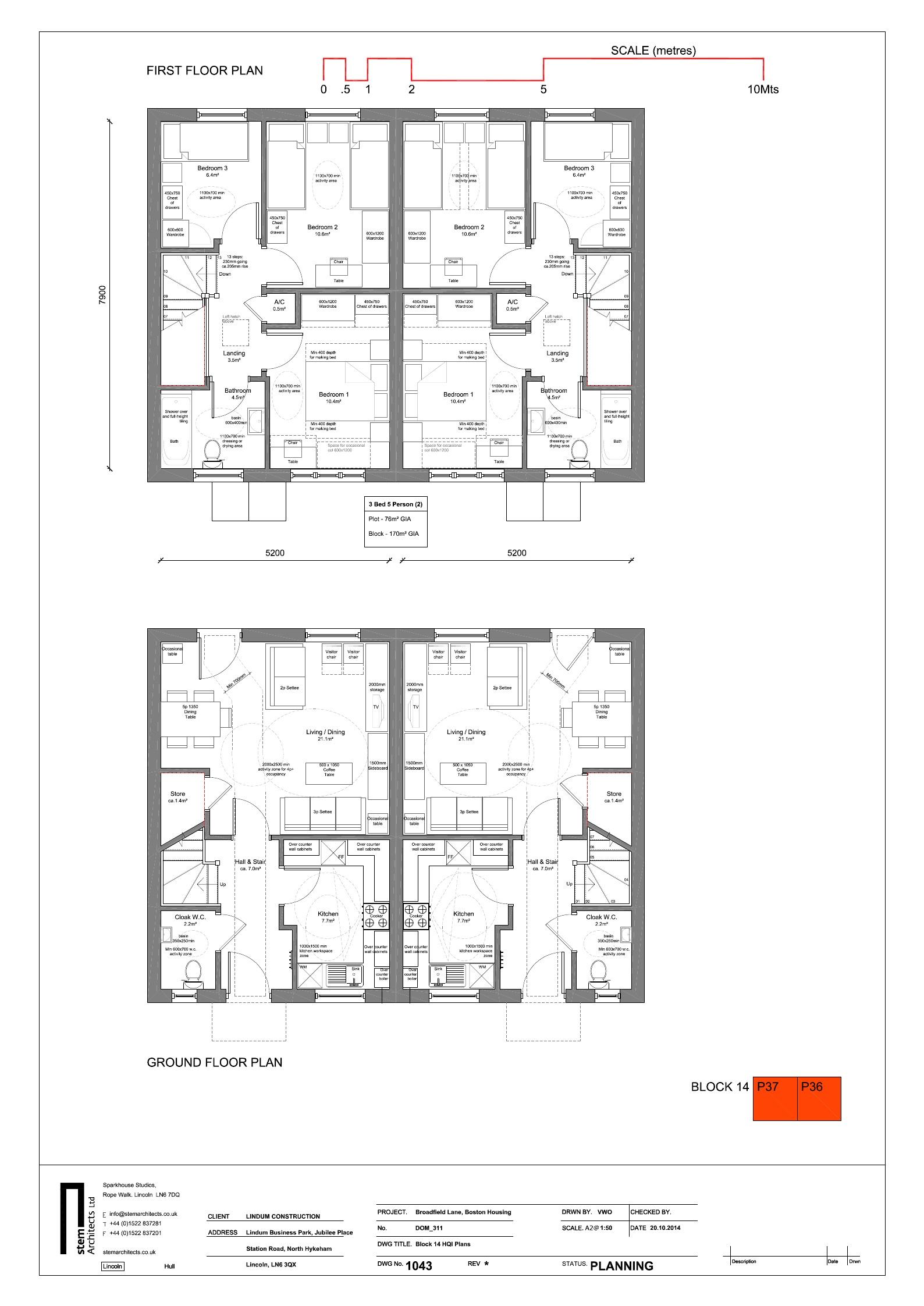 Floor plan 3 bed house Broadfield Lane